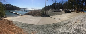 Boat Ramp Pouring Finish