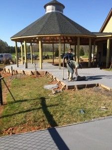 Stamped Concrete Back Patio 2