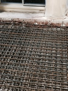 Steel in Concrete Pad 2